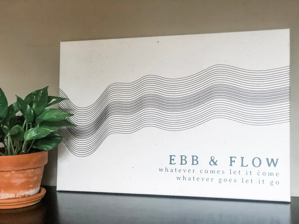 Ebb and Flow Canvas - Large