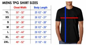 TPG Mens Shirts Sizes
