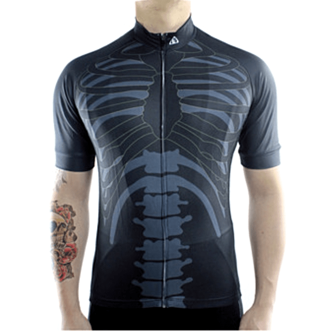 "Mens ""Skeleton"" Biking Jersey"