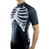 "Mens ""Skeleton"" (White) Biking Jersey"