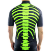 "Mens ""Skeleton"" (Fluorescent Green) Biking Jersey"