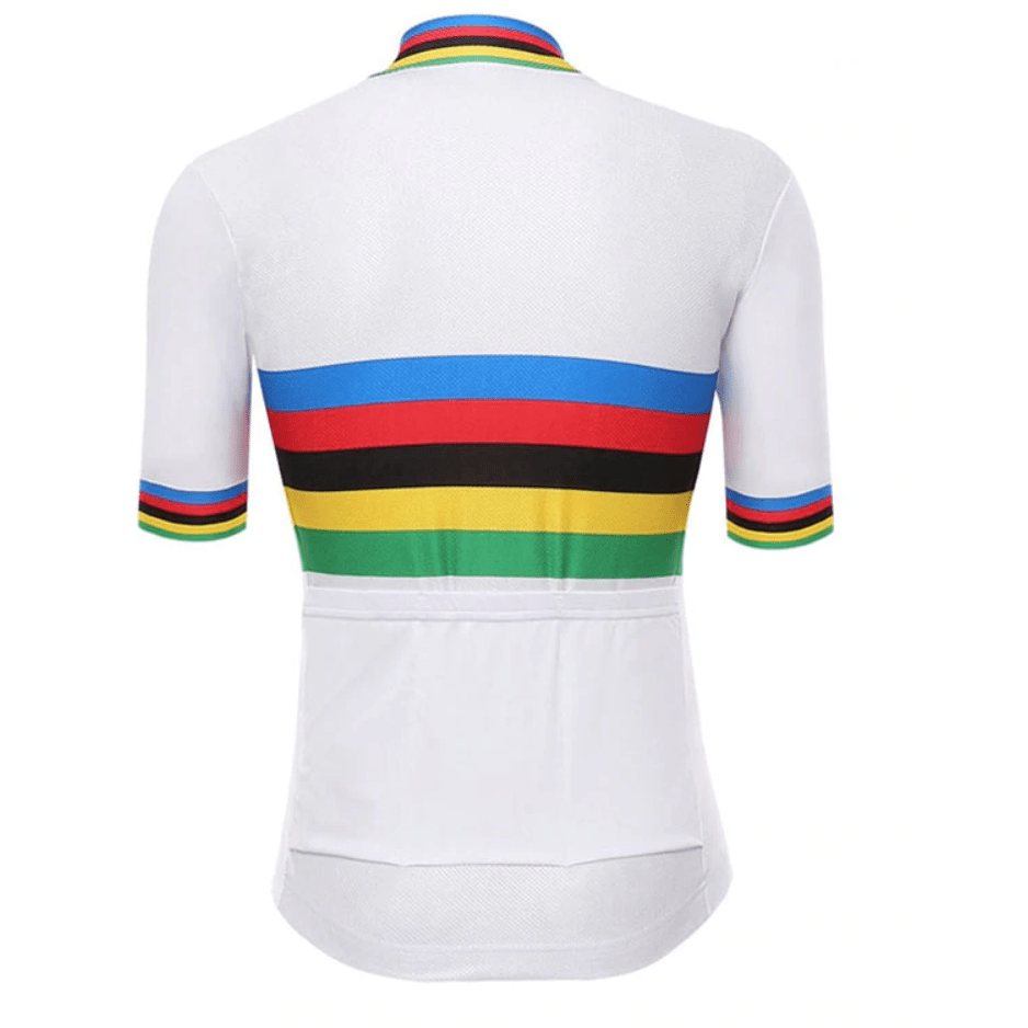 Multi Colour Stripes Cycling Jersey