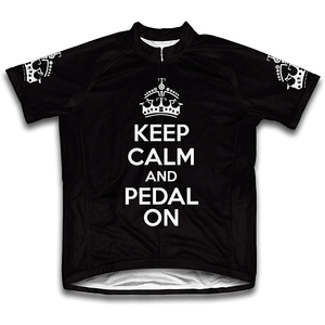 """Keep Calm, Pedal On"" Cycling Jersey"