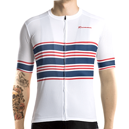 "Bike Jersey's Racmmer Short Sleeve ""Blue Ribbon"" Jersey"