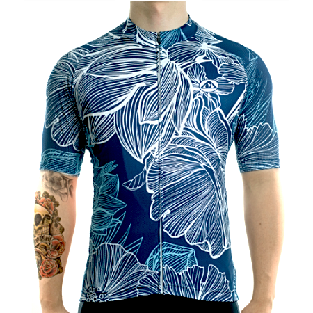 "Bike Jersey's Racmmer Short Sleeve ""Tropic Leaf"" Jersey"