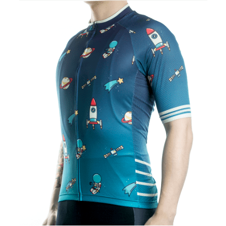 "Bike Jersey's S Racmmer Short Sleeve ""Space"" Jersey"