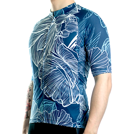 "Bike Jersey's S Racmmer Short Sleeve ""Tropic Leaf"" Jersey"