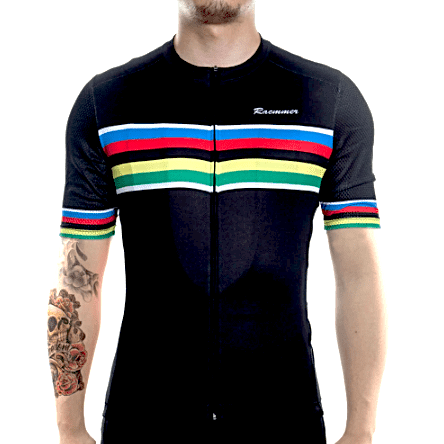 Black Rainbow Cycling Set