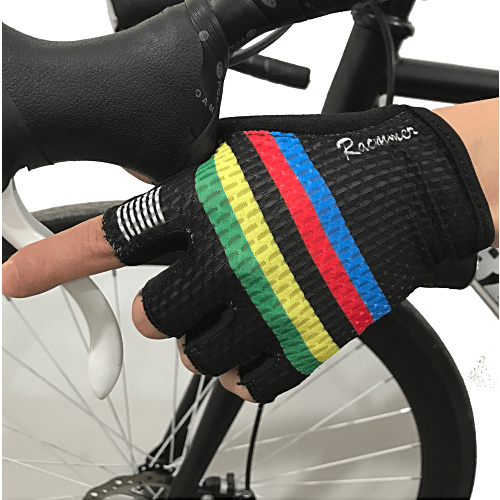 Parc Cycling Jerseys L - One Size / Black Rainbow Unisex Cycling Gloves