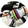Parc Cycling Jerseys L - One Size / White Rainbow Unisex Cycling Gloves