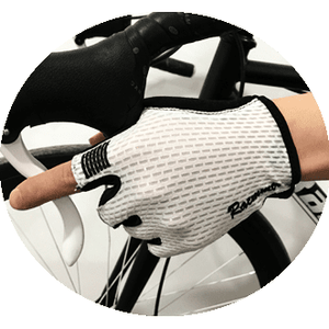 Parc Cycling Jerseys L - One Size / White Unisex Cycling Gloves