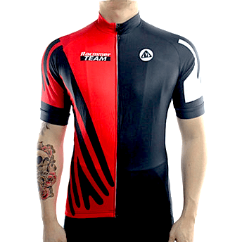 "Parc Cycling Jerseys S / Red Mens ""Racmmer Team"" Jersey"