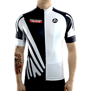 "Parc Cycling Jerseys S / White Mens ""Racmmer Team"" Jersey"