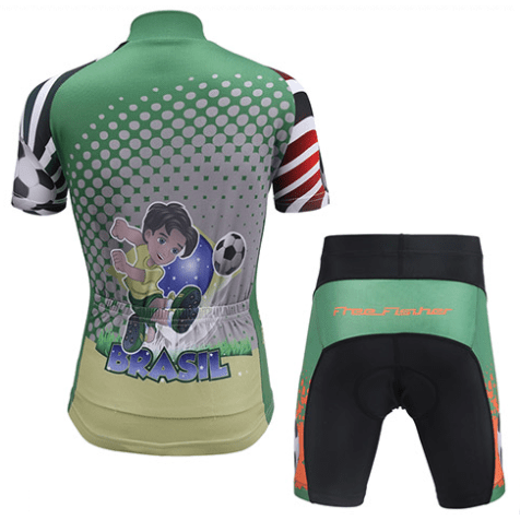 "Parc Jersey Kids ""Brasil Soccer"" Cycling Set"
