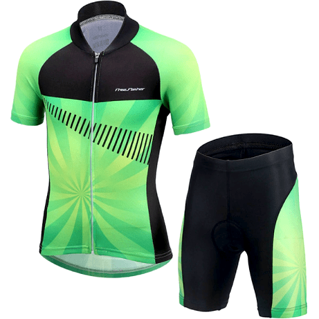 "Parc Jersey M Kids ""Cool Green"" Cycling Set"