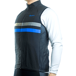 "Parc Jersey Mens ""Windproof"" (Blue) Sleeveless Jersey"