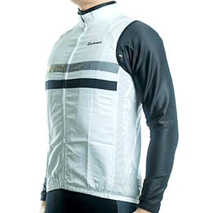 Parc Jersey Mens Windstopper (White) Sleeveless Jersey
