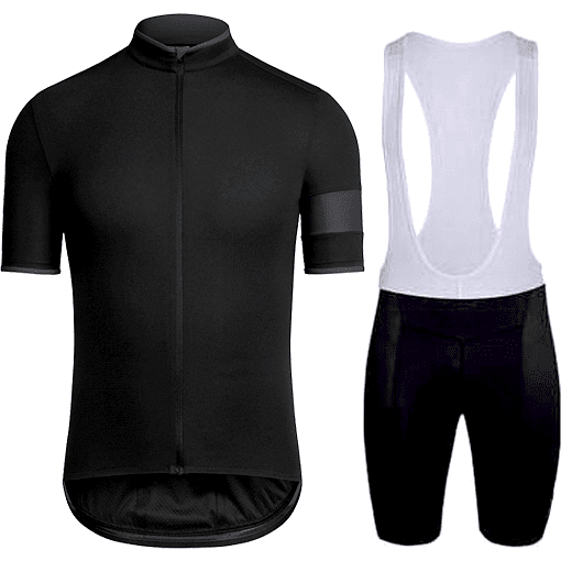 "Parc Jersey S Mens ""Black Stripe"" Cycling Set (short sleeve/pants)"