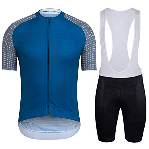 "Parc Jersey S Mens ""Blue/Grey"" Cycling Set (short sleeve/pants)"