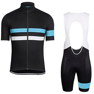 "Parc Jersey S Mens ""Light Blue Stripe"" Cycling Set (short sleeve/pants)"