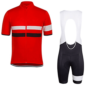 "Parc Jersey S Mens ""Red/White Stripe"" Cycling Set (short sleeve/pants)"