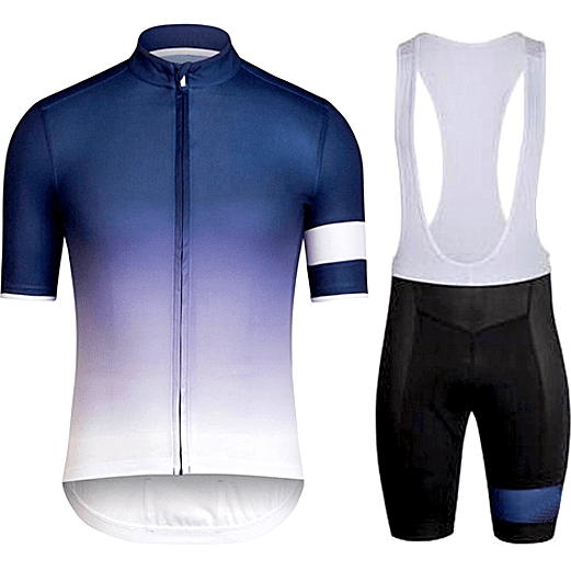 "Parc Jersey S Mens ""White/Blue Stripe"" Cycling Set (short sleeve/pants)"