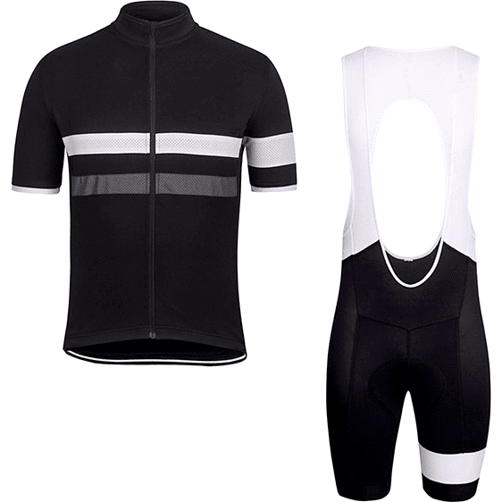 "Parc Jersey S Mens ""White Stripe"" Cycling Set (short sleeve/pants)"