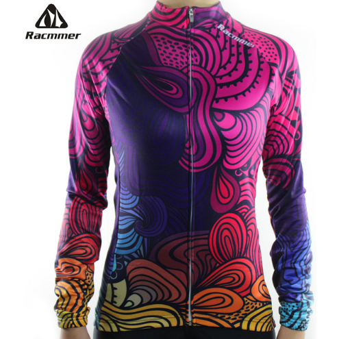 "Parc Jersey S Racmmer Long Sleeve ""Colorful Swirls"" Jersey"