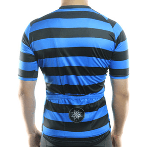"Mens ""Rugby Style"" (blue/black) Cycling Jersey"