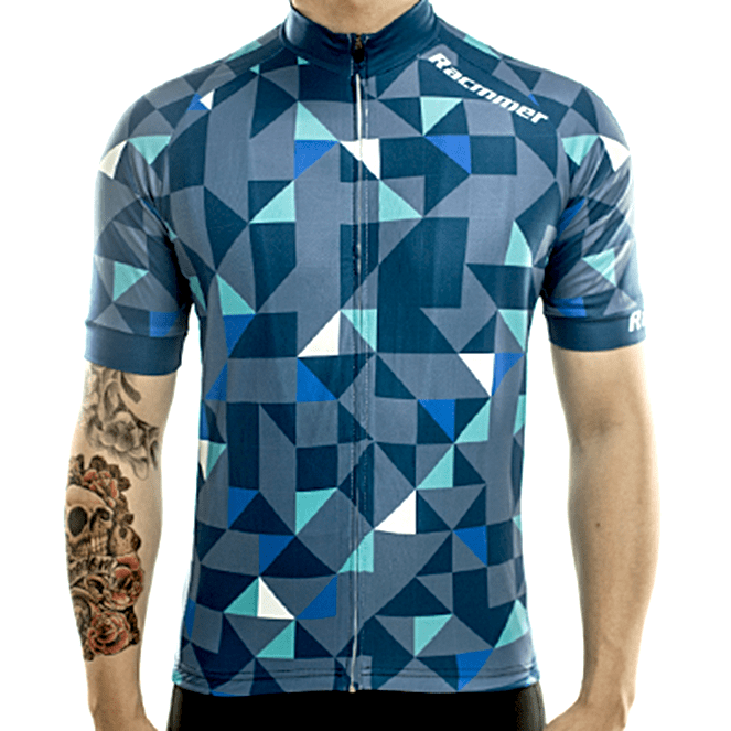 "Mens Short Sleeve ""Blue Trifecta"" Jersey"