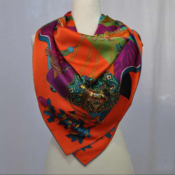 Entourage Silk Scarf Orange