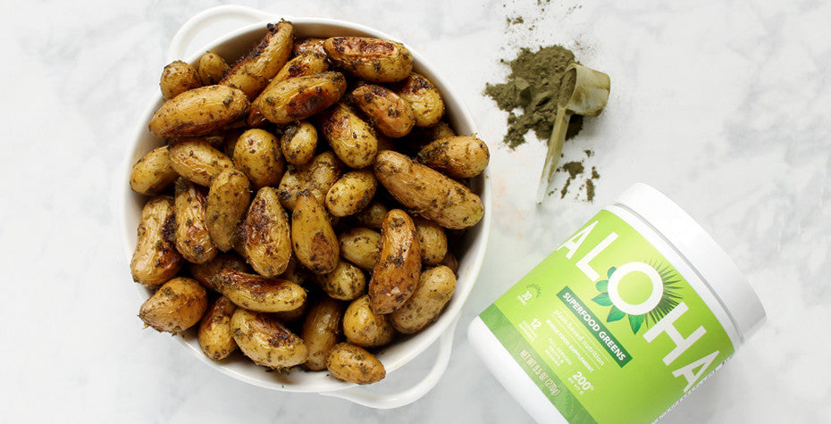 Superfood Greens Pesto With Roasted Potatoes