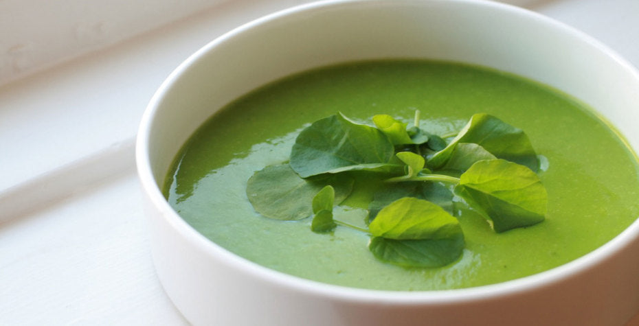 Watercress and Baby Spinach Soup
