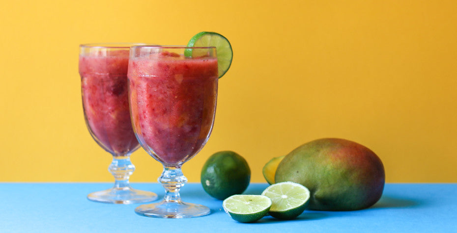 Superfood Strawberry Mango Frozen Margarita
