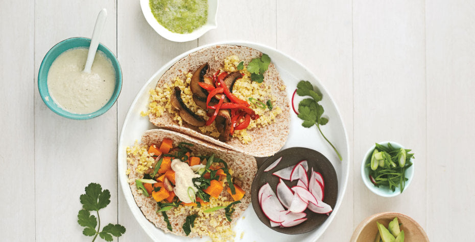 Millet 'n Veggie Breakfast Tacos: Two Ways