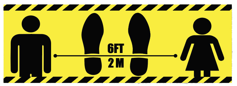 "17"" x 5.5"" Floor Stickers"