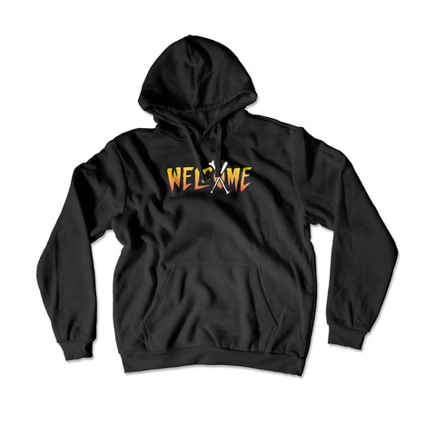 Welcome Flame Dog Hoodie