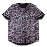 Reversible Grey Camo Baseball Jersey