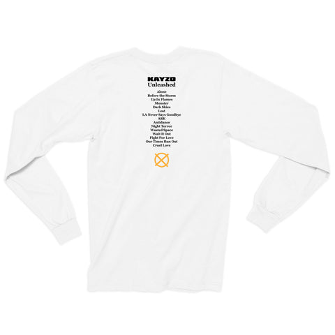 Unleashed Album Lineup Long Sleeve / White
