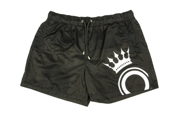 Black Printed Logo Short