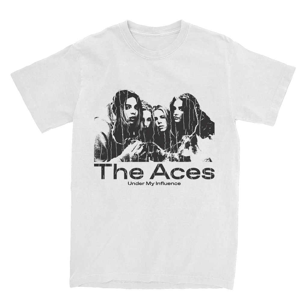 The Aces - 'Under My Influence' T-Shirt (White)