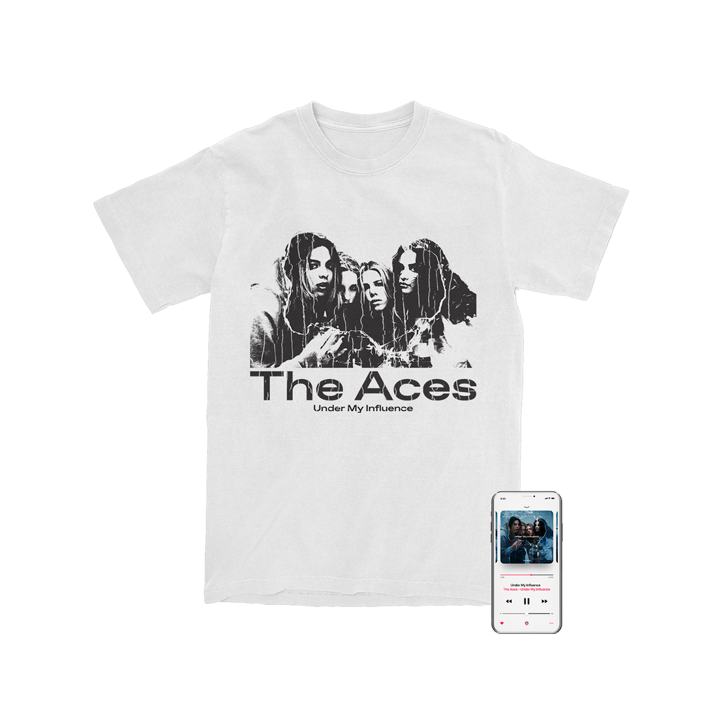 The Aces - 'Under My Influence' Digital Download/T-Shirt Bundle