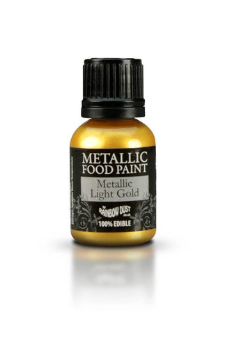100% FDA Approved Edible Metallic Gold Food Paint