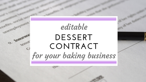 Editable Dessert Contract Form for your baking business