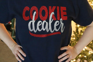 cookie dealer glitter t-shirt by everythingcakeandcookies.com and 6cakesandmore.com