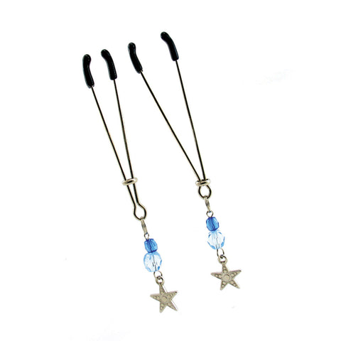Sex Kitten Tweezer Clamps Star Blue  Sex Kitten- Vixen Erotic Boutique
