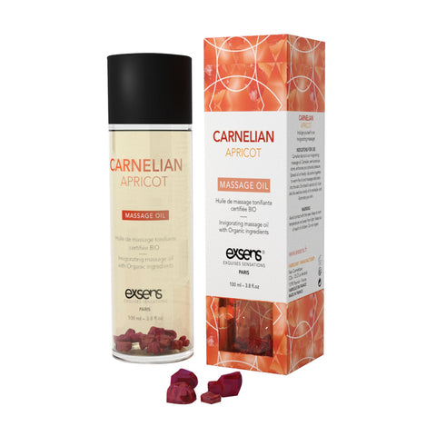 Carnelian Apricot Invigorating Masssage Oil  Exsens- Vixen Erotic Boutique