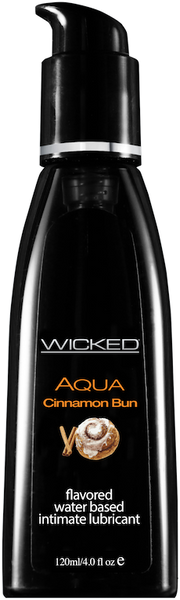 Wicked AQUA Cinnamon Bun Lubricant  Wicked- Vixen Erotic Boutique