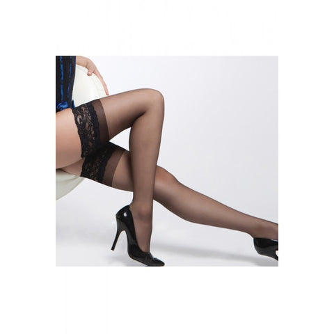 Sheer Thigh Highs with Silicone Grip  Coquette- Vixen Erotic Boutique