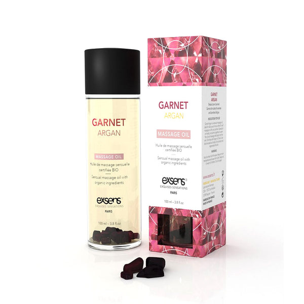 Garnet Argan Sensual Organic Massage Oil  Exsens- Vixen Erotic Boutique